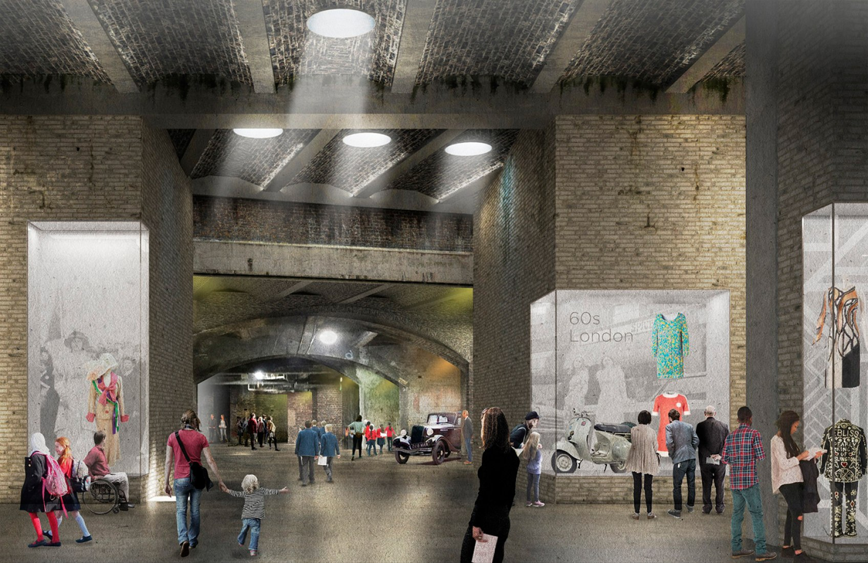 Galleries visualization. New Museum of London by Asif Khan and Stanton Williams. Image courtesy of Asif Khan.