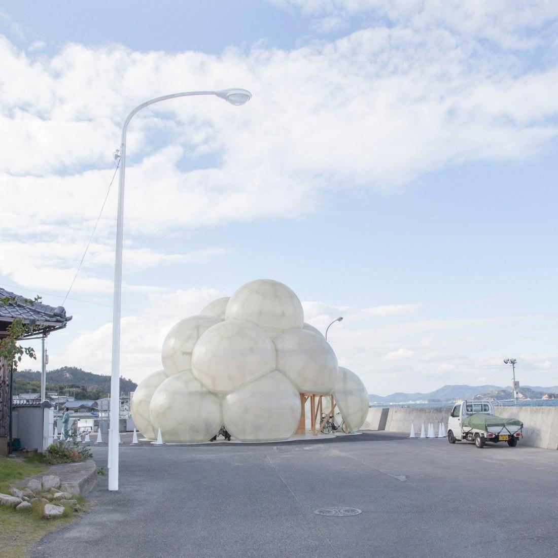 New pavilion of the port of Honmura, Naoshima by SANAA.