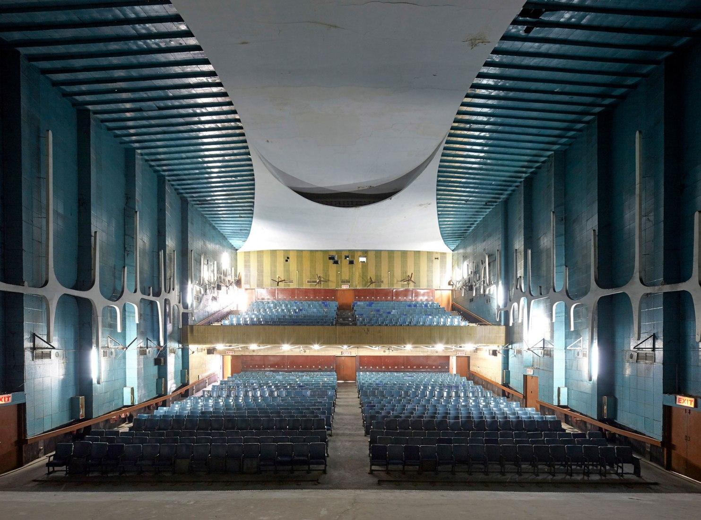 Neelam Theatre by Le Corbusier. Photograph by Edmund Sumner