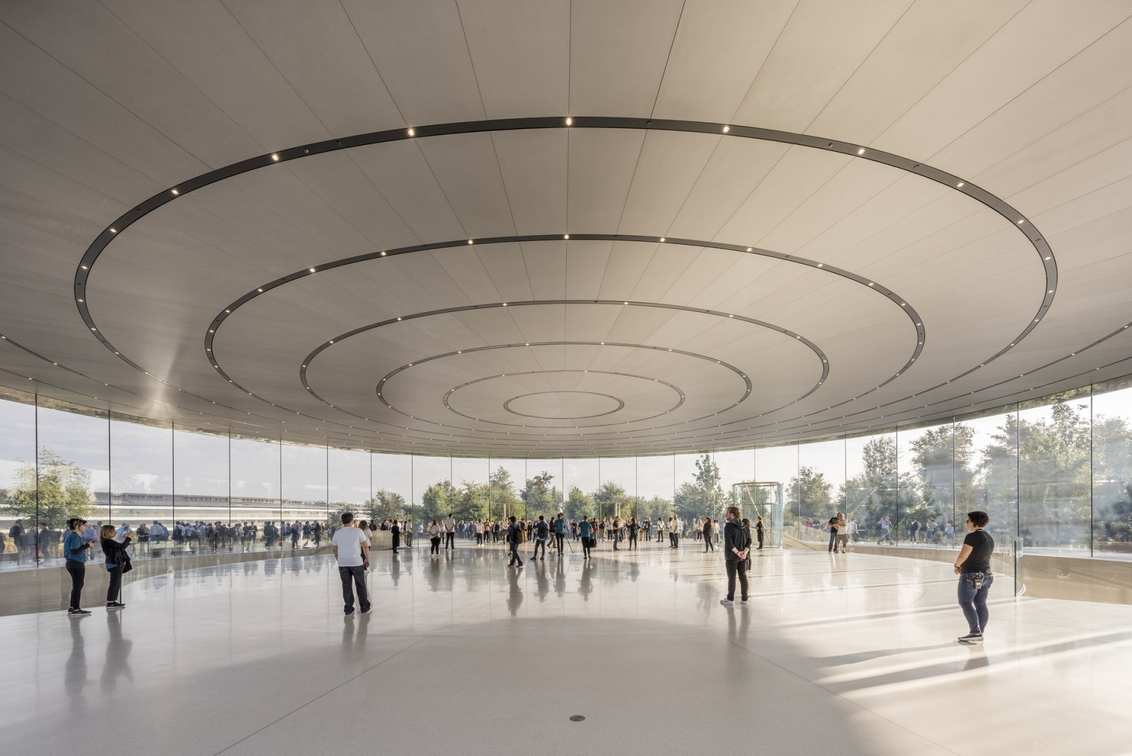 Apple's Steve Jobs auditorium. Photograph © Nigel Young / Foster + Partners.