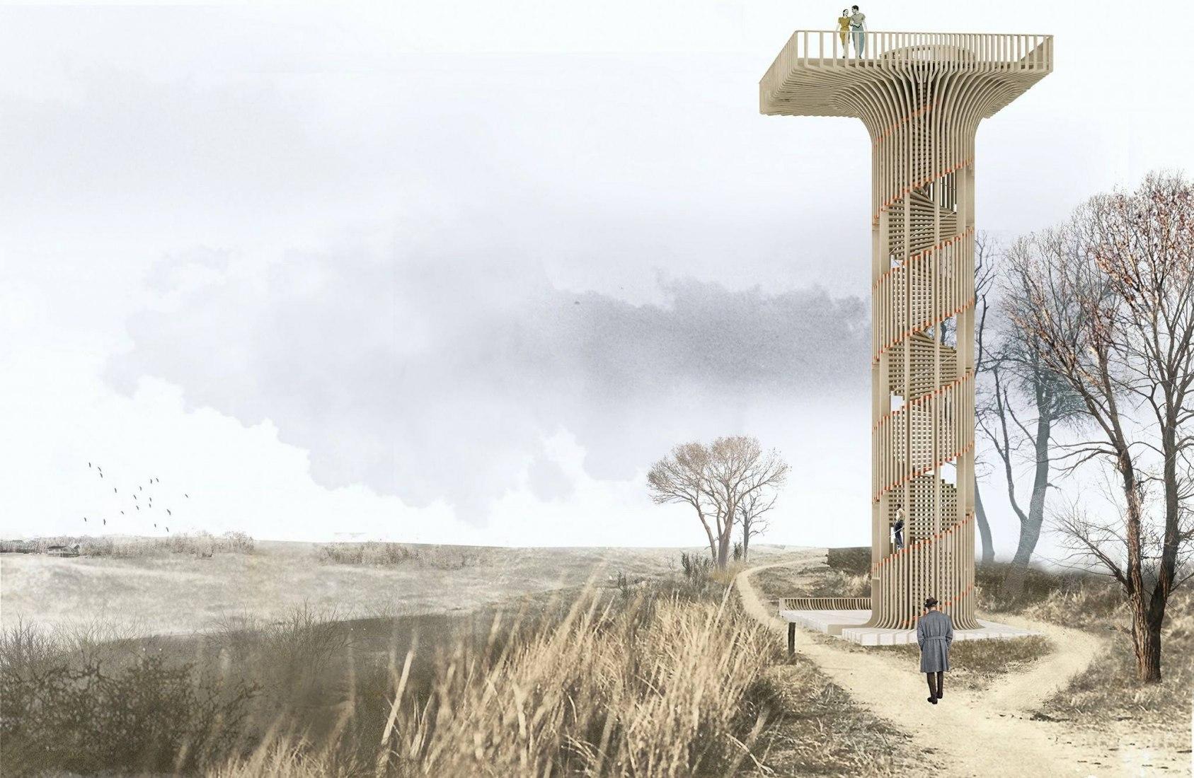 Visualización. Hoge Blekker Watchtower por NEXT architects