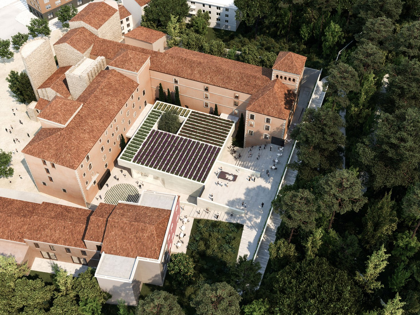 Overview. Museo Carmen Thyssen SFG. Image by Nieto Sobejano Arquitectos