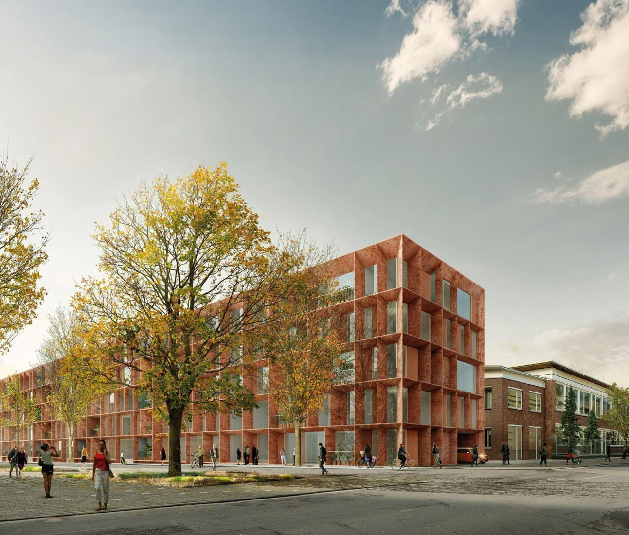Rendering. Tor 2 - Clouth Areal complex by Nieto Sobejano Arquitectos