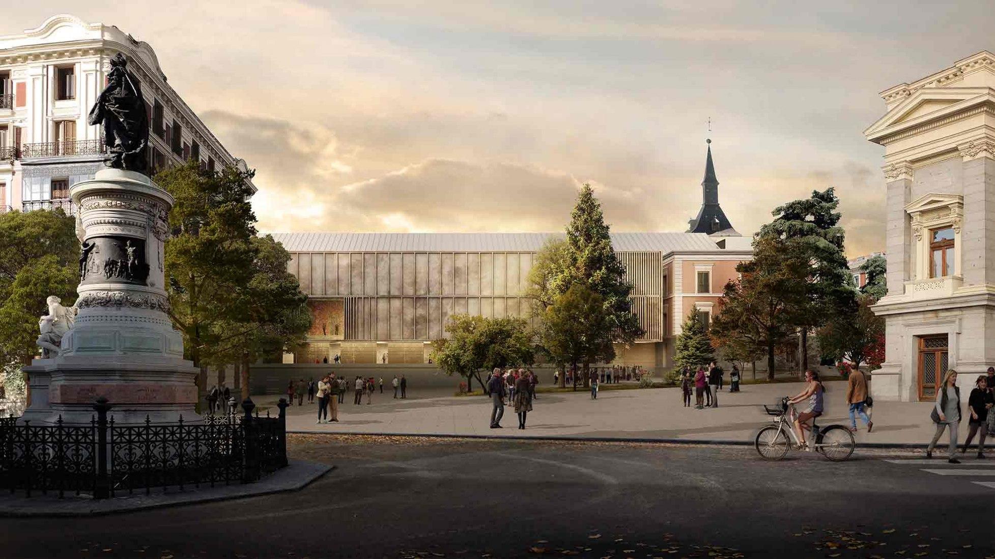 Extension proposal for El Prado Museum by Nieto Sobejano. Image courtesy of Nieto Sobejano.