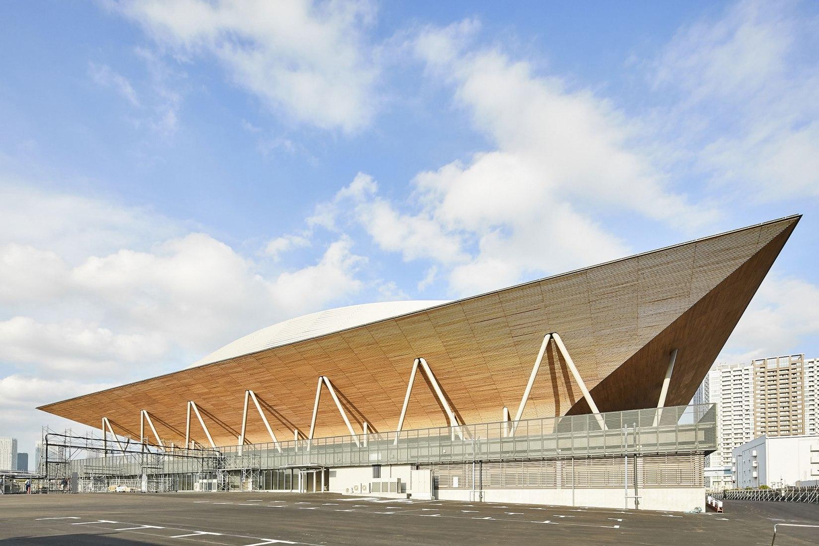 El Centro de Gimnasia de Ariake por Nikken Sekkei. Fotografía por SS Company Limited