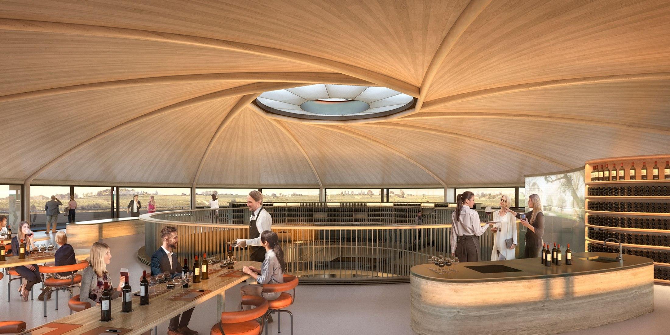 Bodega Le Dôme en Saint-Émilion por Foster + Partners. Visualización por Foster + Partners