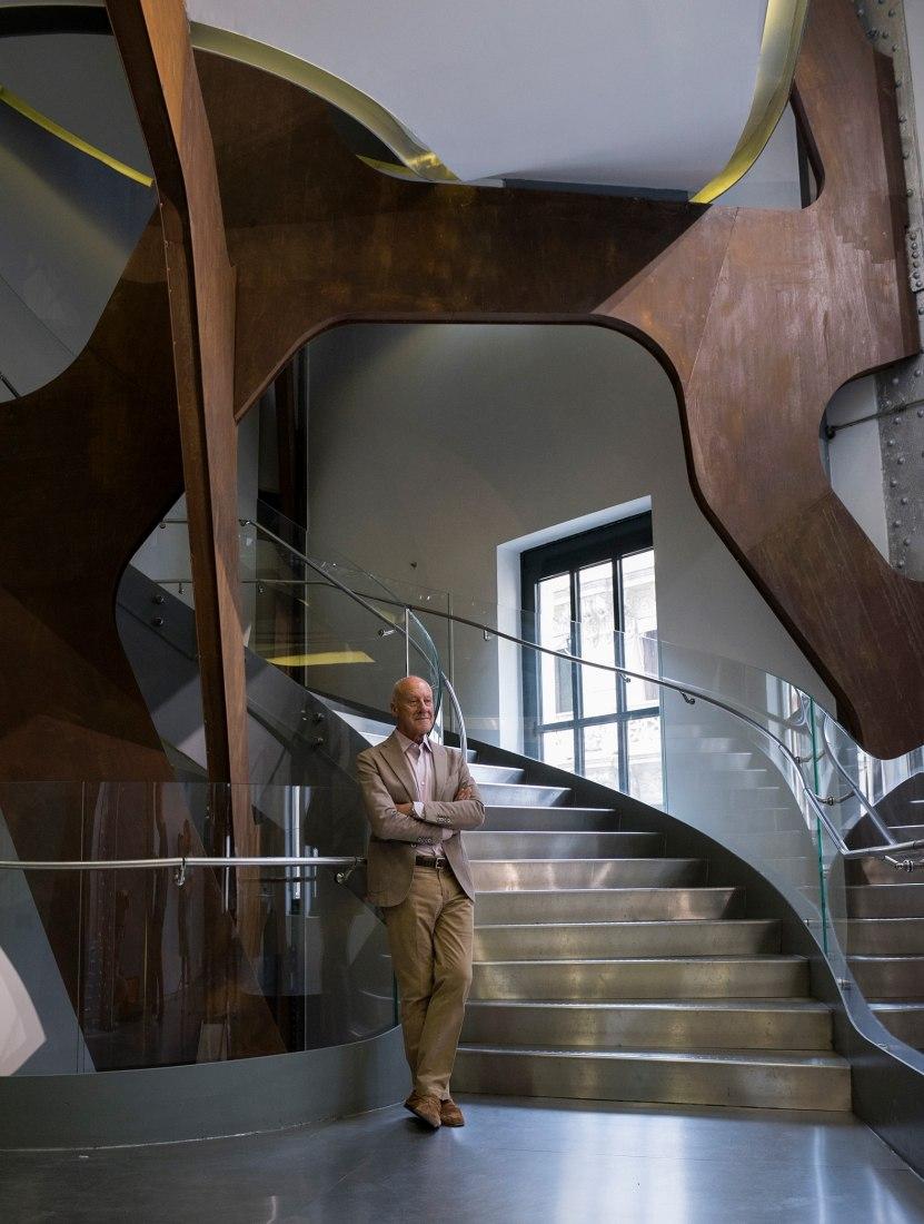 Norman Foster at Espacio Fundación Telefónica. Photograph courtesy of Telefónica Foundation.
