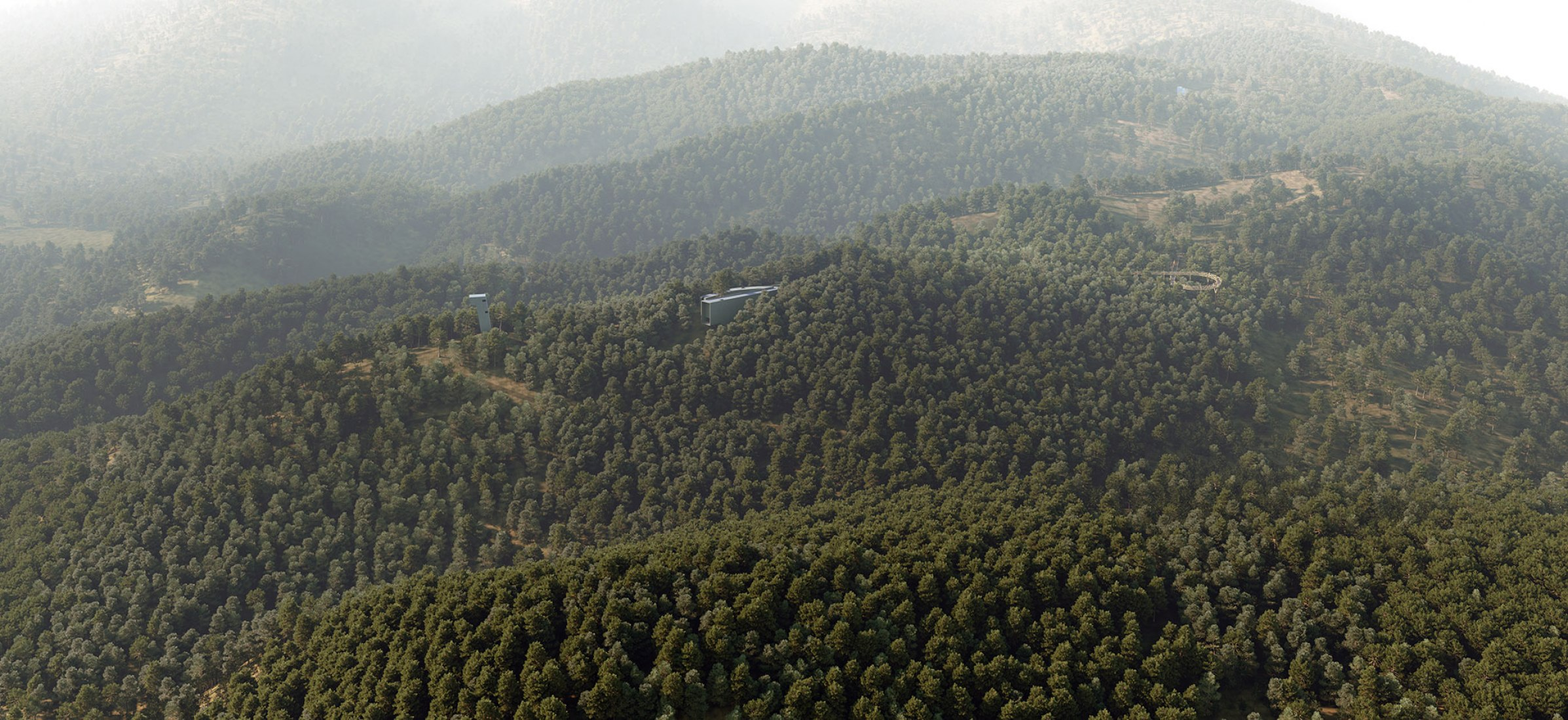 Visualización. Un observatorio en el Parque Saya por Siza y Castanheira.