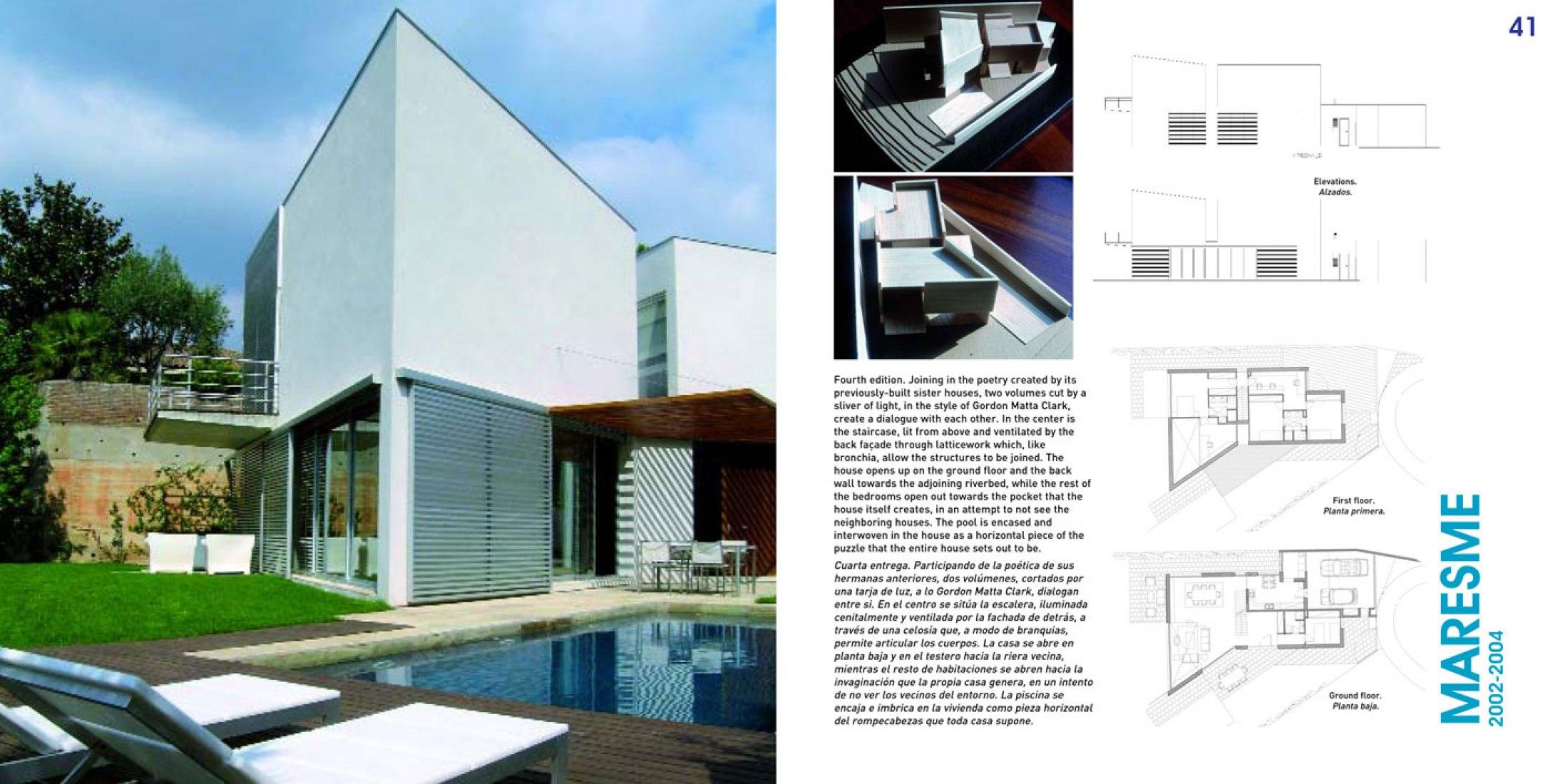 Página interior del libro Sunlight Houses por Octavio Mestre.