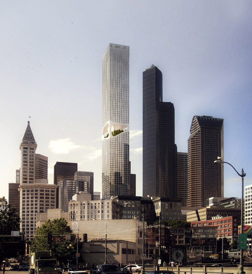 Seattle Tower by ODA. Visual by Labtop Rendering