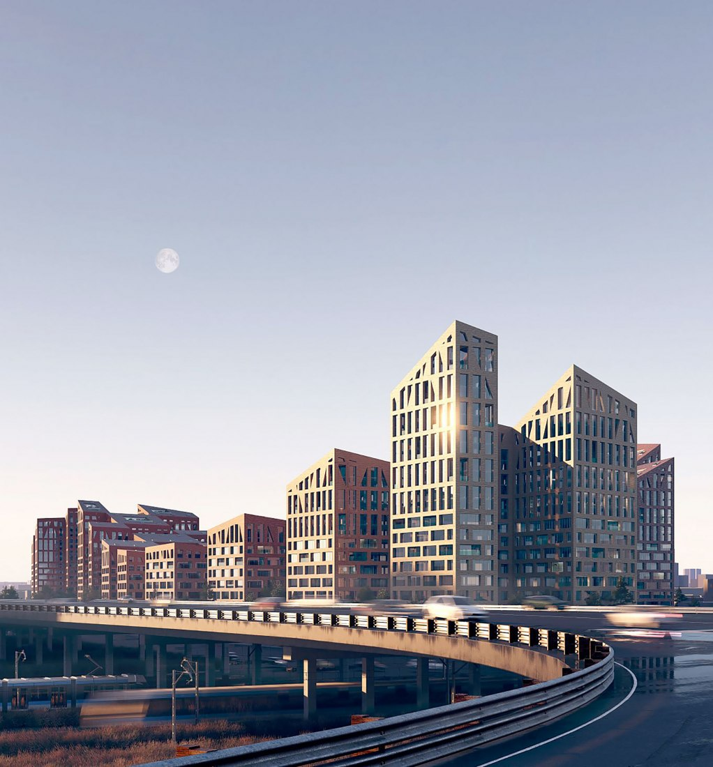 ODA gana el concurso para rediseñar una antigua zona industrial en Moscú. Visualizaciones de ODA New York/Brick Visual