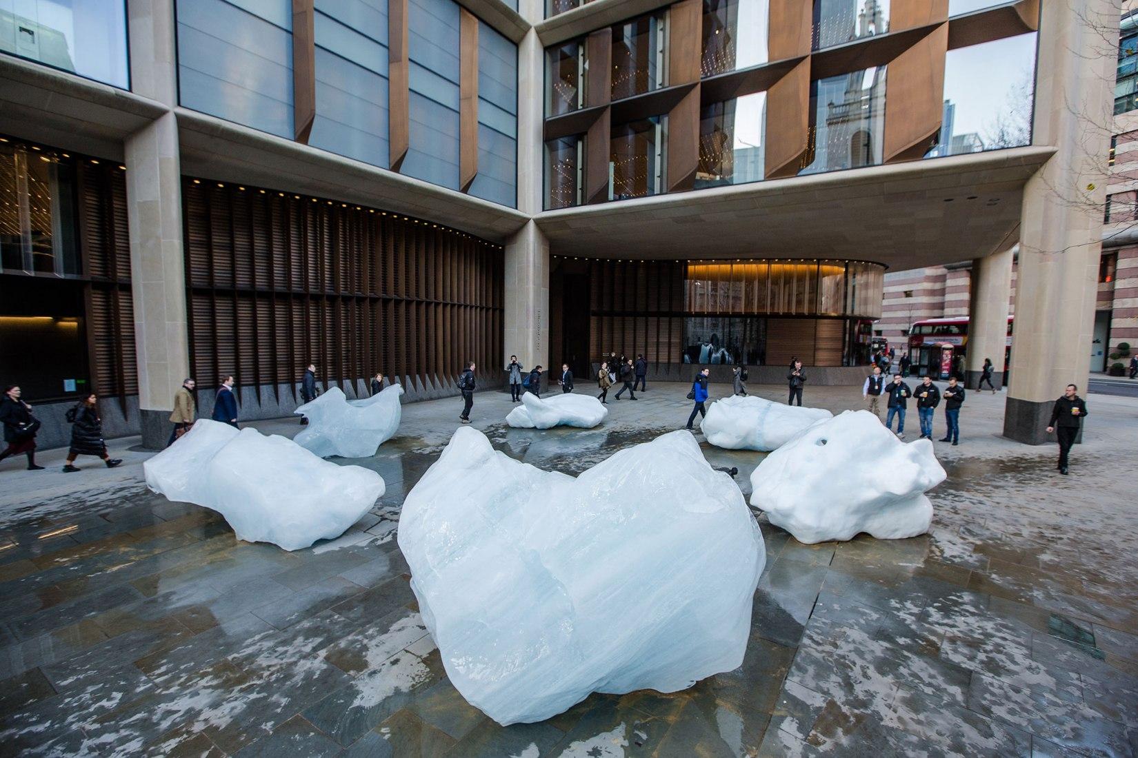 Tate Modern. Ice Watch Londres por Olafur Eliasson y Minik Rosing. Fotografía por Charlie Forgham Bailey
