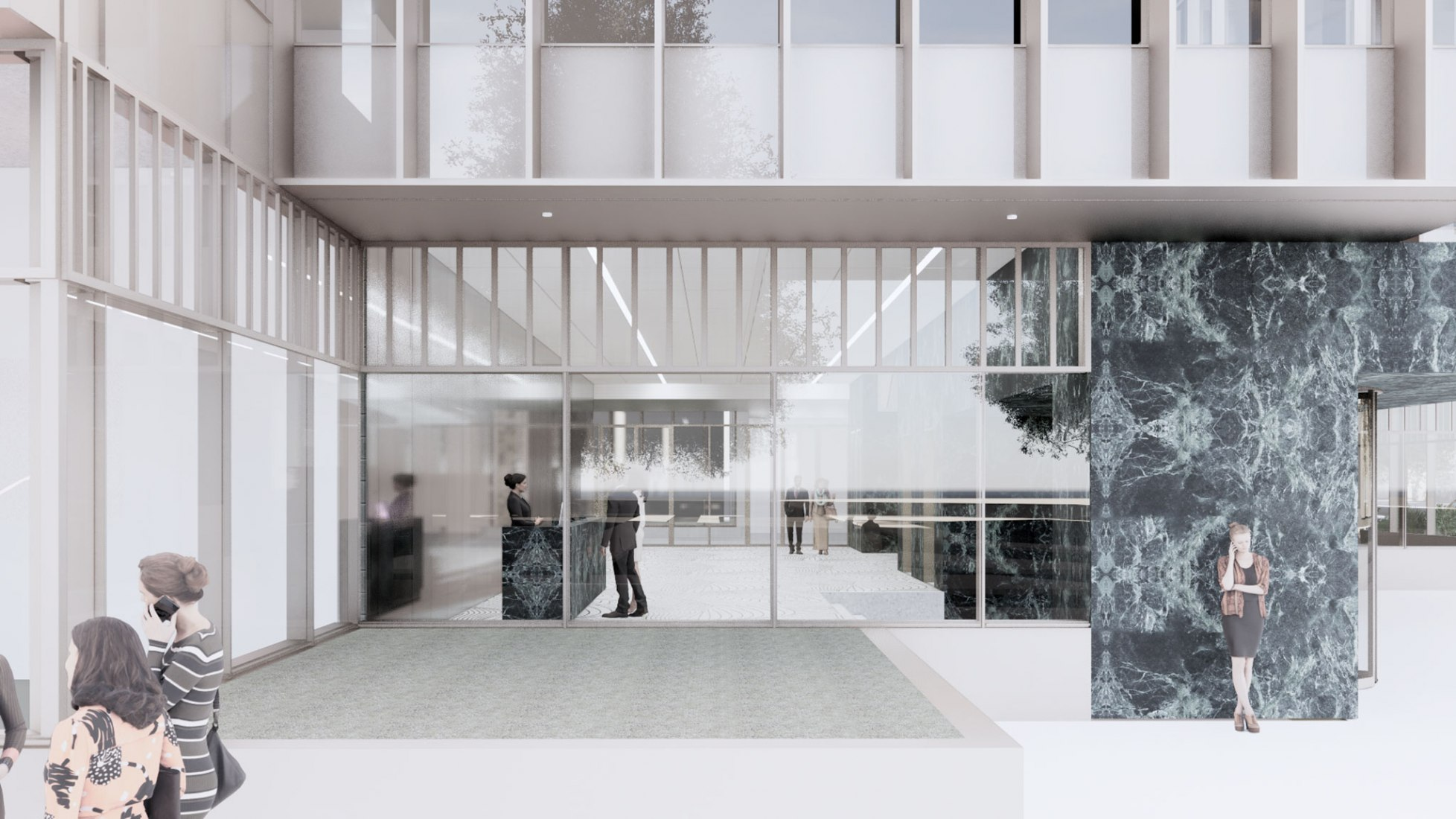 ApollolaanRendering. Apollolaan building by OMA. Image courtesy of OMA