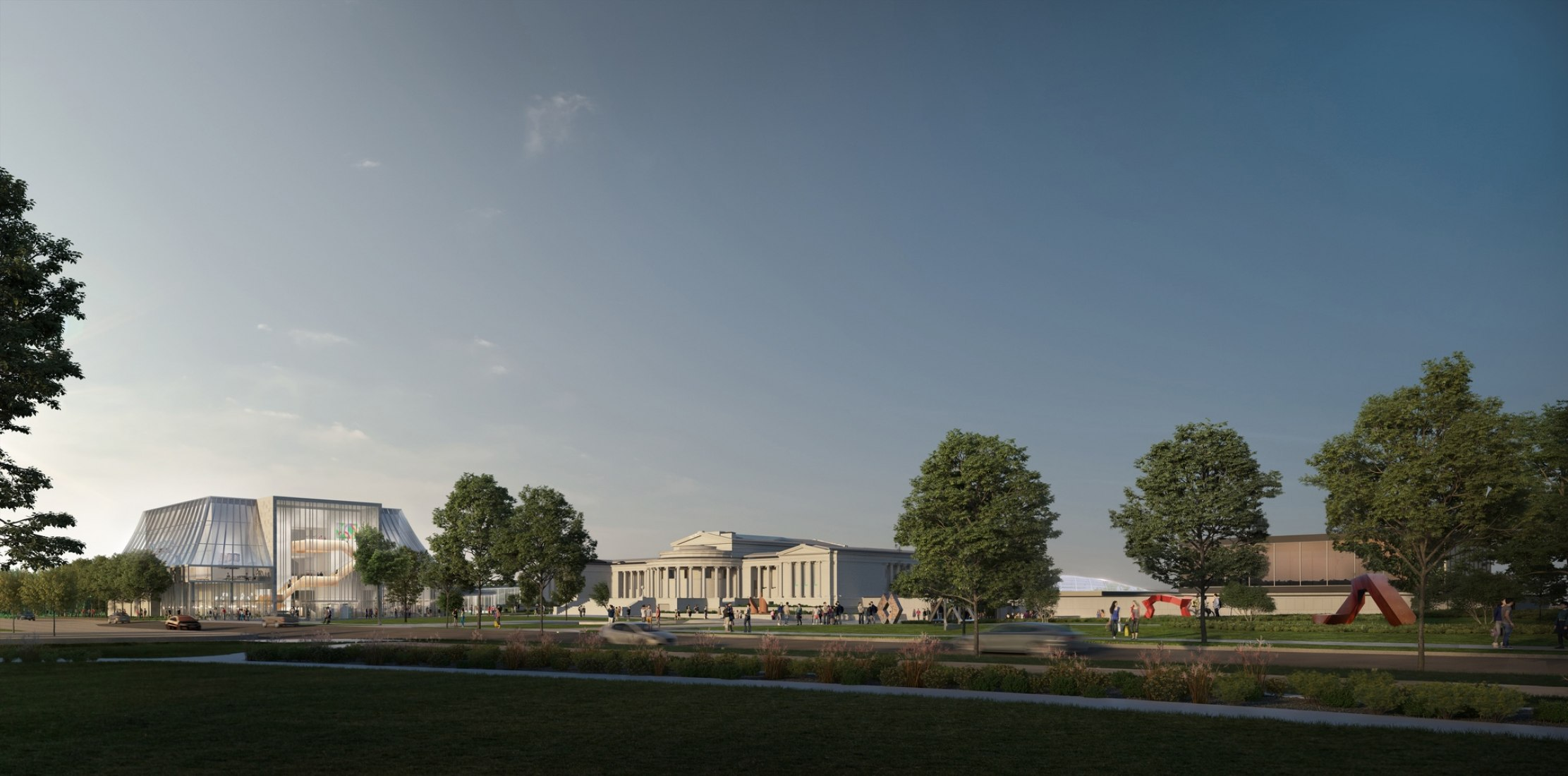 Rendering. Buffalo Albright-Knox-Gundlach Art Museum by OMA. Image by Brick Visuals, courtesy of OMA