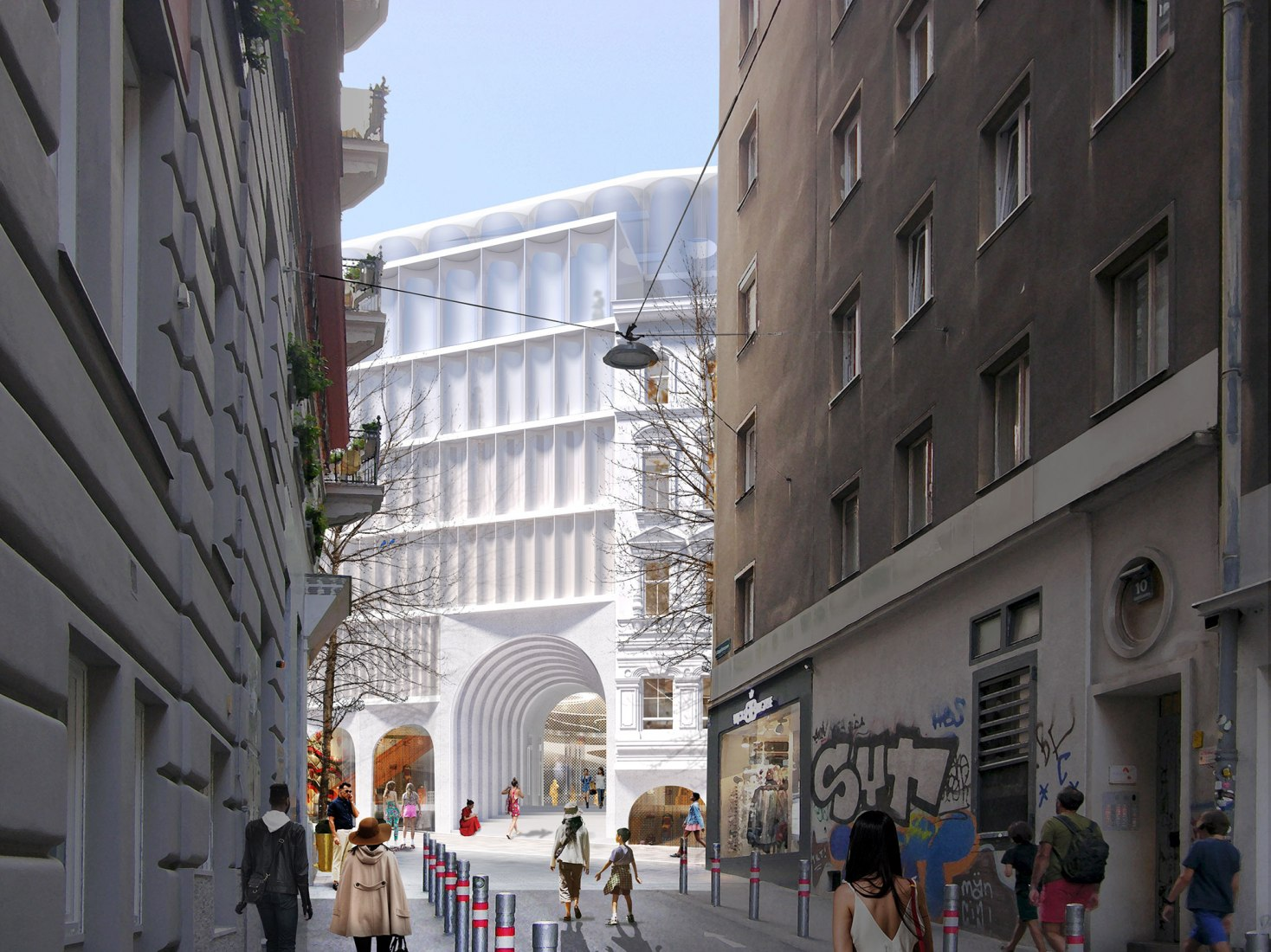 Rendering. New Kadewe Vienna Department Store by OMA. Image courtesy of OMA