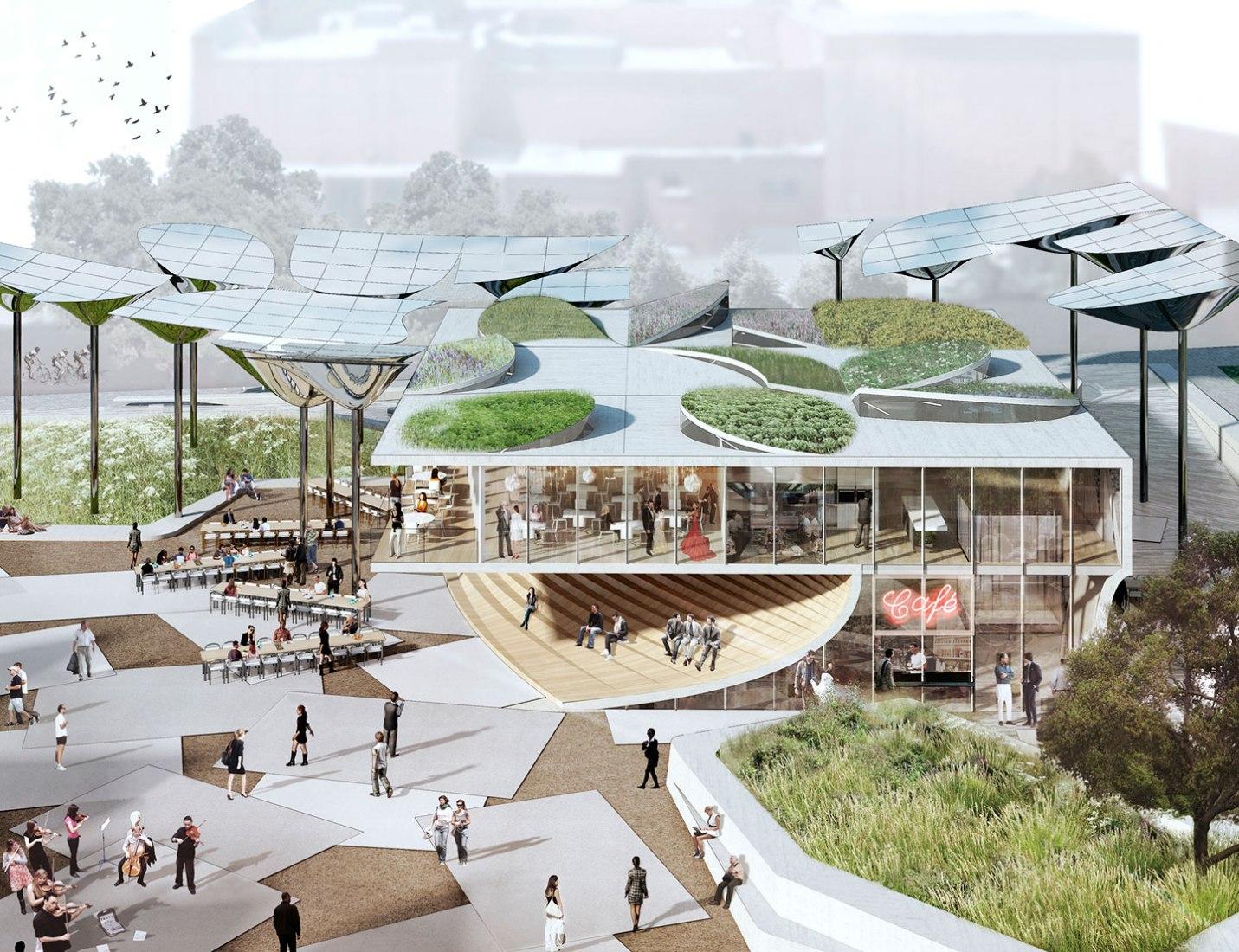"""Nuevo """"FAB Park"""" en LA por MLA, OMA y IDEO. Imagen cortesía de OMA."""