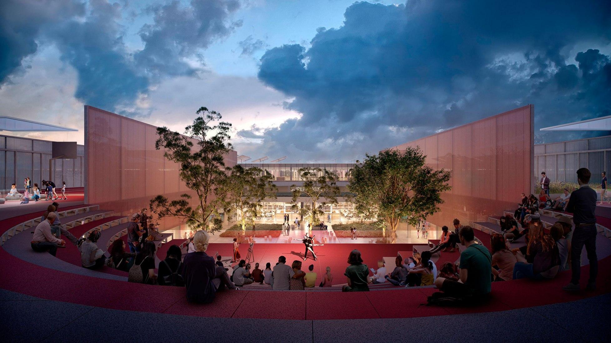 Visualización. Wollert Neighborhood Center en Australia por OMA. Imagen cortesía de OMA