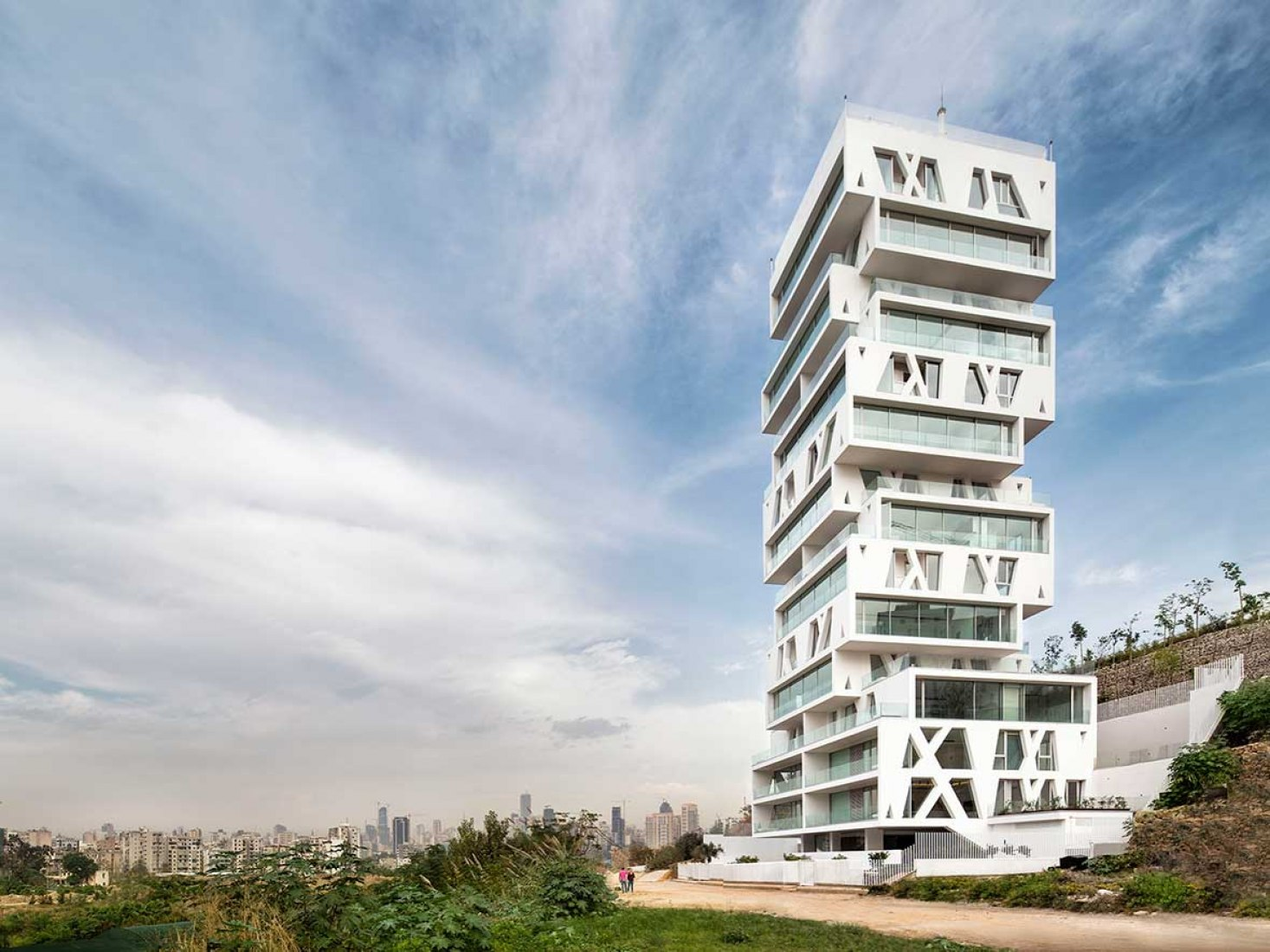 Best Tall Building Middle East & Africa Winner. The Cube by Orange Architects. Image © Matthijs van Roon.