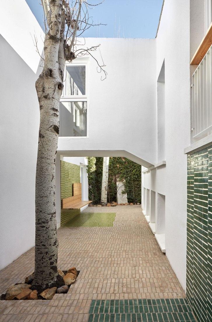 Vista exterior. Reforma de vivienda familiar en la calle orlando agudo, por Padilla Nicás Arquitectos. Fotografía por Mariela Apollonio