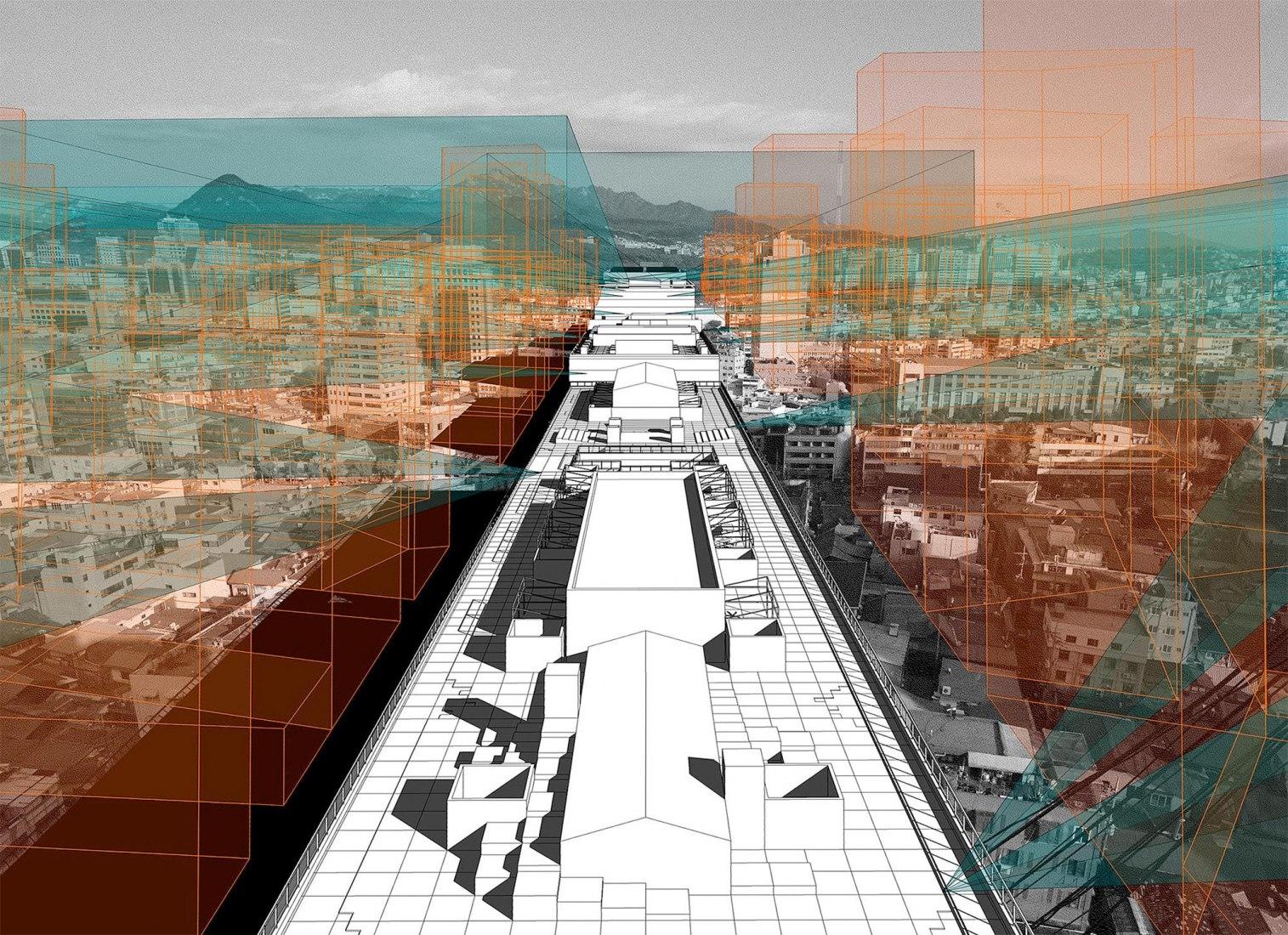 La ciudad de Radical Shift, 2018. 'Espectros de las vanguardias realizadas por el estado' es el tema del Pabellón de Corea 2018 © N.E.E.D. Architecture, Sungwoo Kim (N.E.E.D. Architecture)