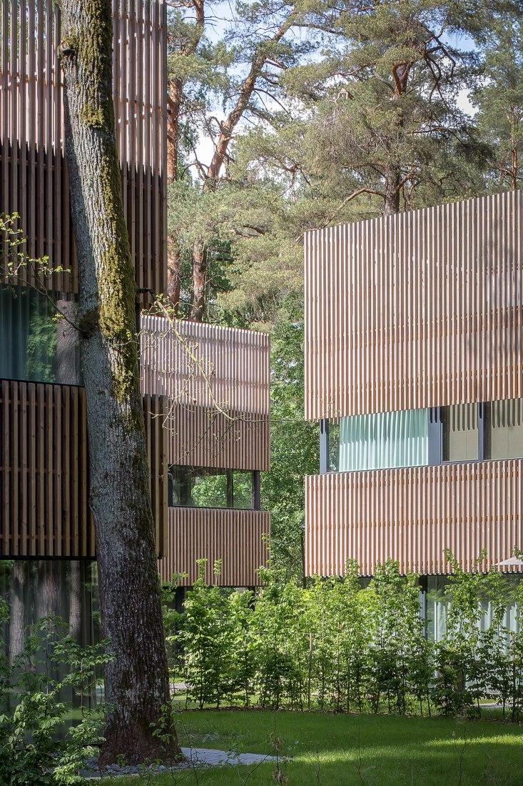 Pasaku st. houses por Paleko architektų studija. Fotografía por Norbertas Tukaj.