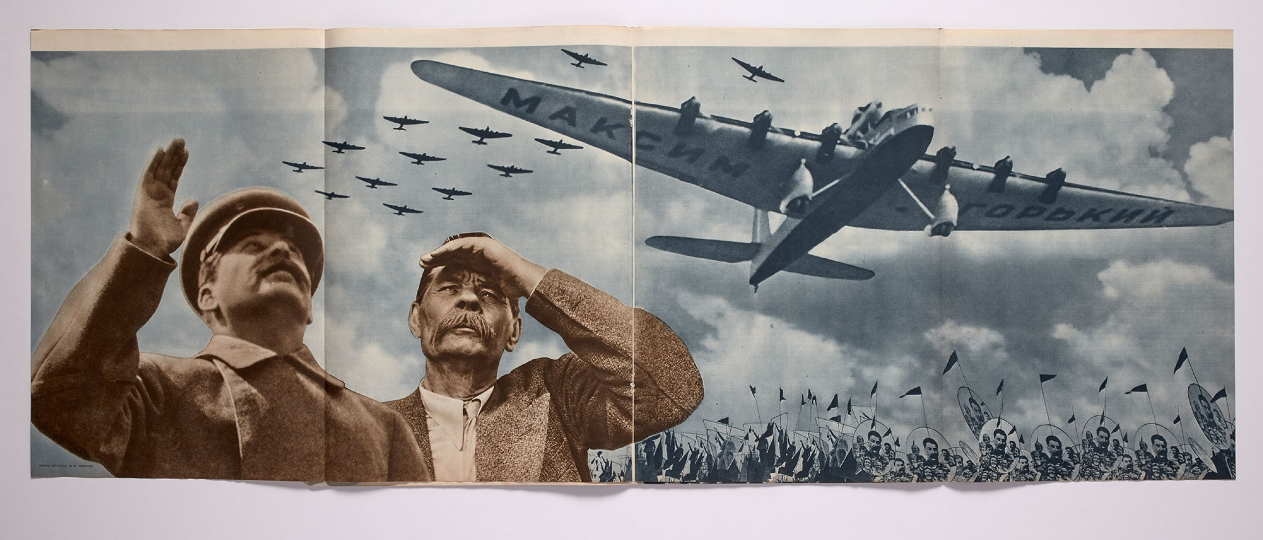 Nikolai Troshin: The USSR under construction, No. 1, January 1935. Interior pages