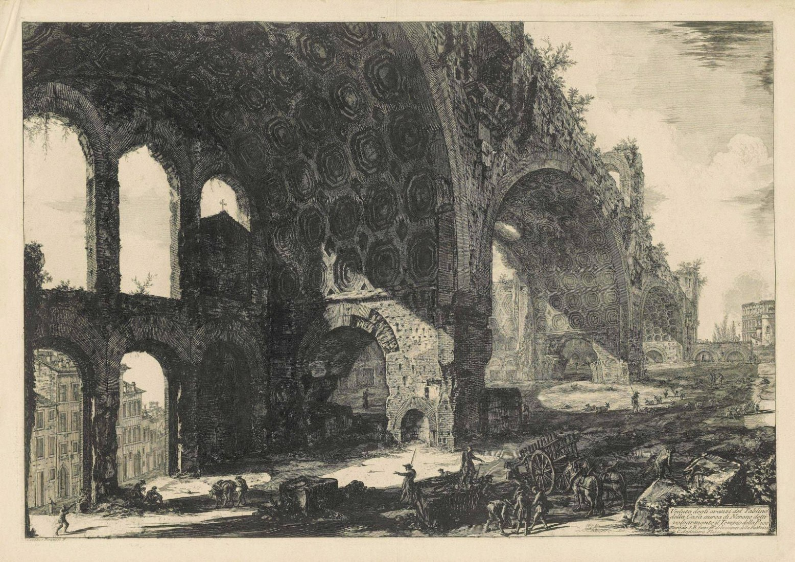 Giovanni Battista Piranesi, La Basílica de Maxentius, 1774, Museo Boijmans Van Beuningen, Rotterdam