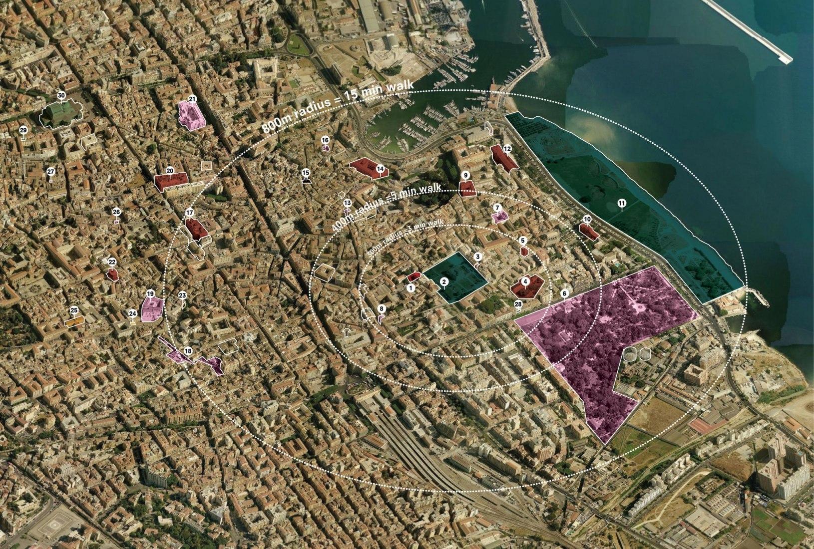 Estrategia de intervención. Palermo Atlas. Imagen cortesía de OMA