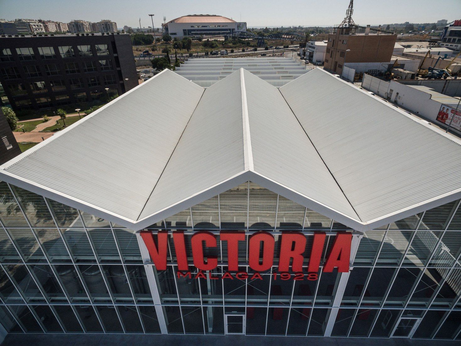 Aerial view. Victoria Beer Factory by GANA Arquitectura. Photograph © Fernando Alda