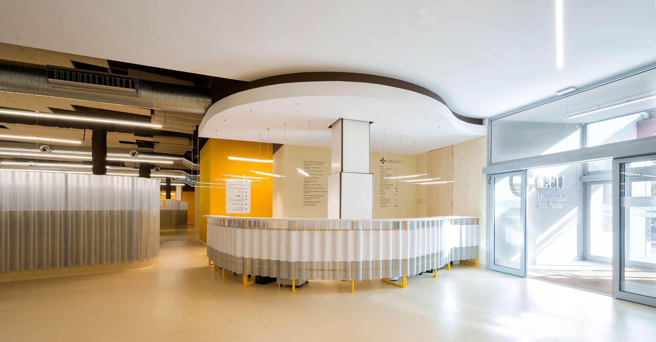 University Polyclinic of the University CEU San Pablo by Adam Bresnick architects. Photograph by Antonio Romeo.
