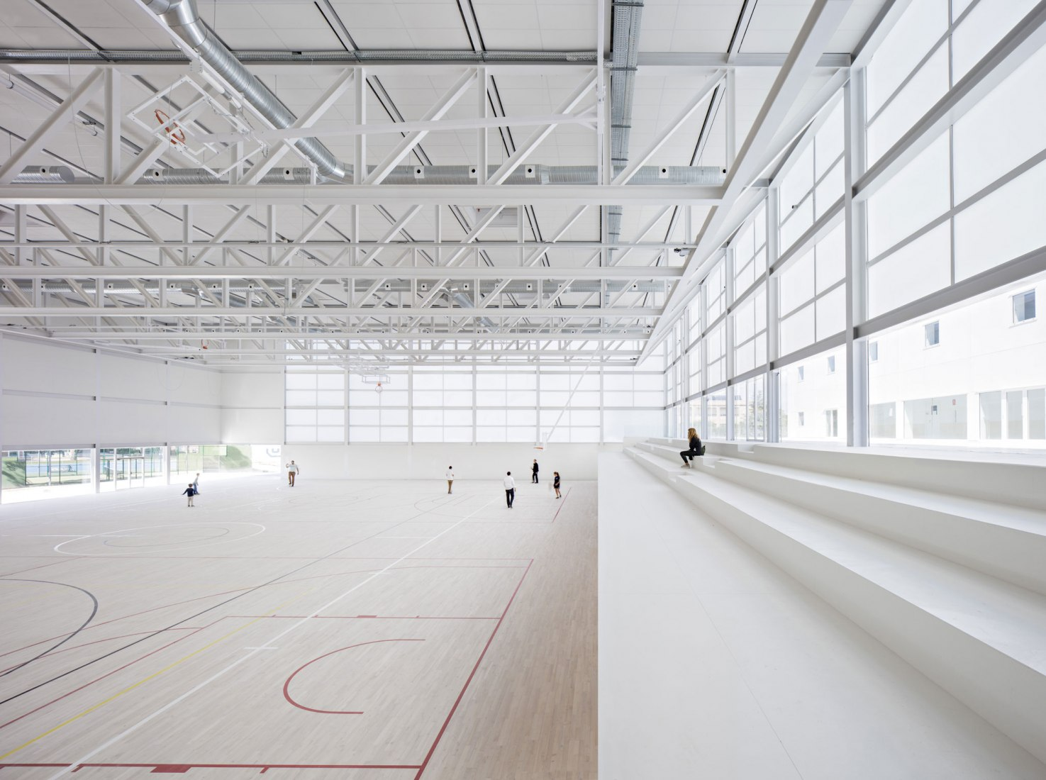 Sports center. Universidad Francisco de Vitoria Sports Center by Alberto Campo Baeza. Photograph © Javier Callejas