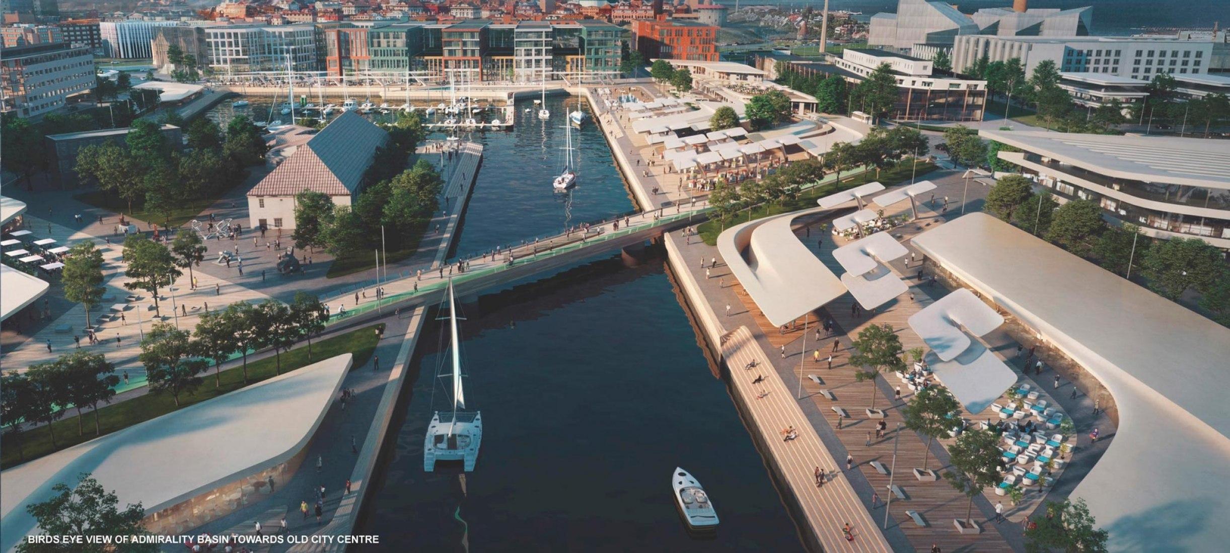 Visualización. Proyecto para el Puerto de la Ciudad Vieja de Tallin por Zaha Hadid Architects. Imagen cortesía del Port of Tallin.