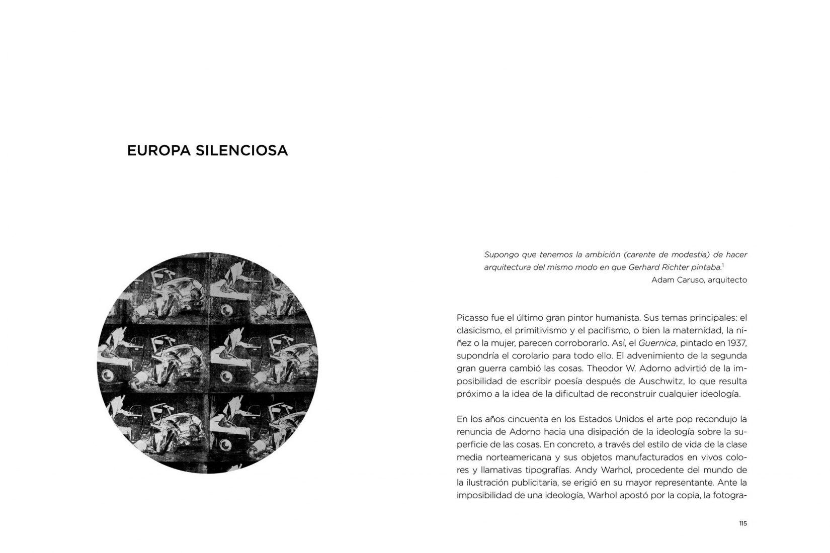 Páginas interiores. En el filo de la navaja por Enric Llorach. Imagen cortesía ediciones asimétricas.