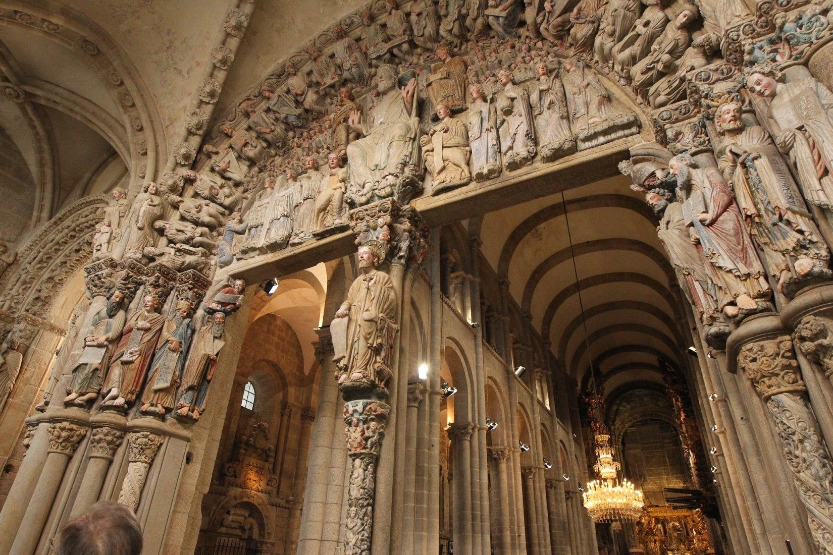 Portal of Glory in Santiago de Compostela Cathedral. Photograph by Programa Catedral Fundación Barrié/Fundación Catedral (2006-2018).