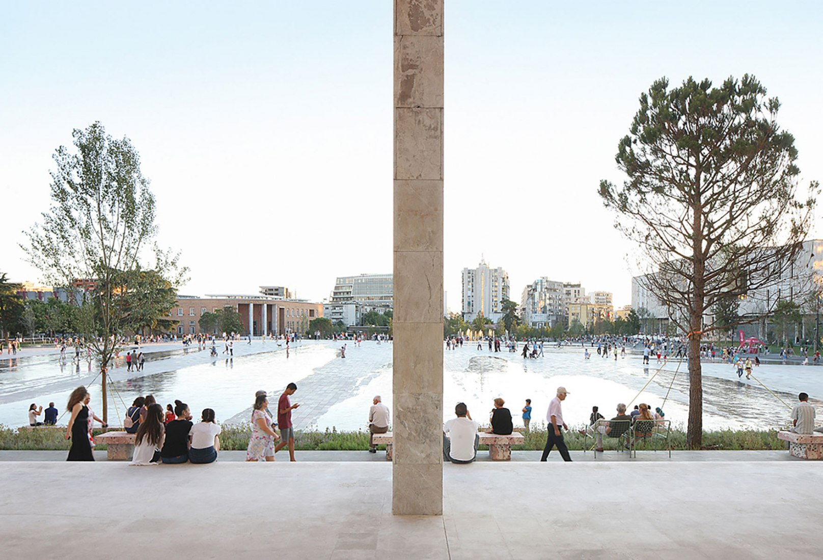 Skanderbeg Square. Renovation of Skanderbeg Square by 51N4E. Winner of the European Prize for public space 2018. Photograph by Filip Dujardin