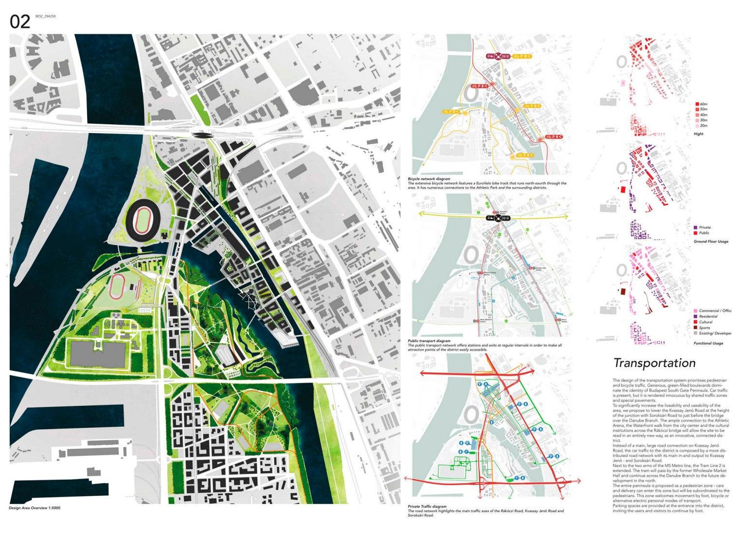Panel 02. Plan Director Puerta Sur Budapest por Snøhetta