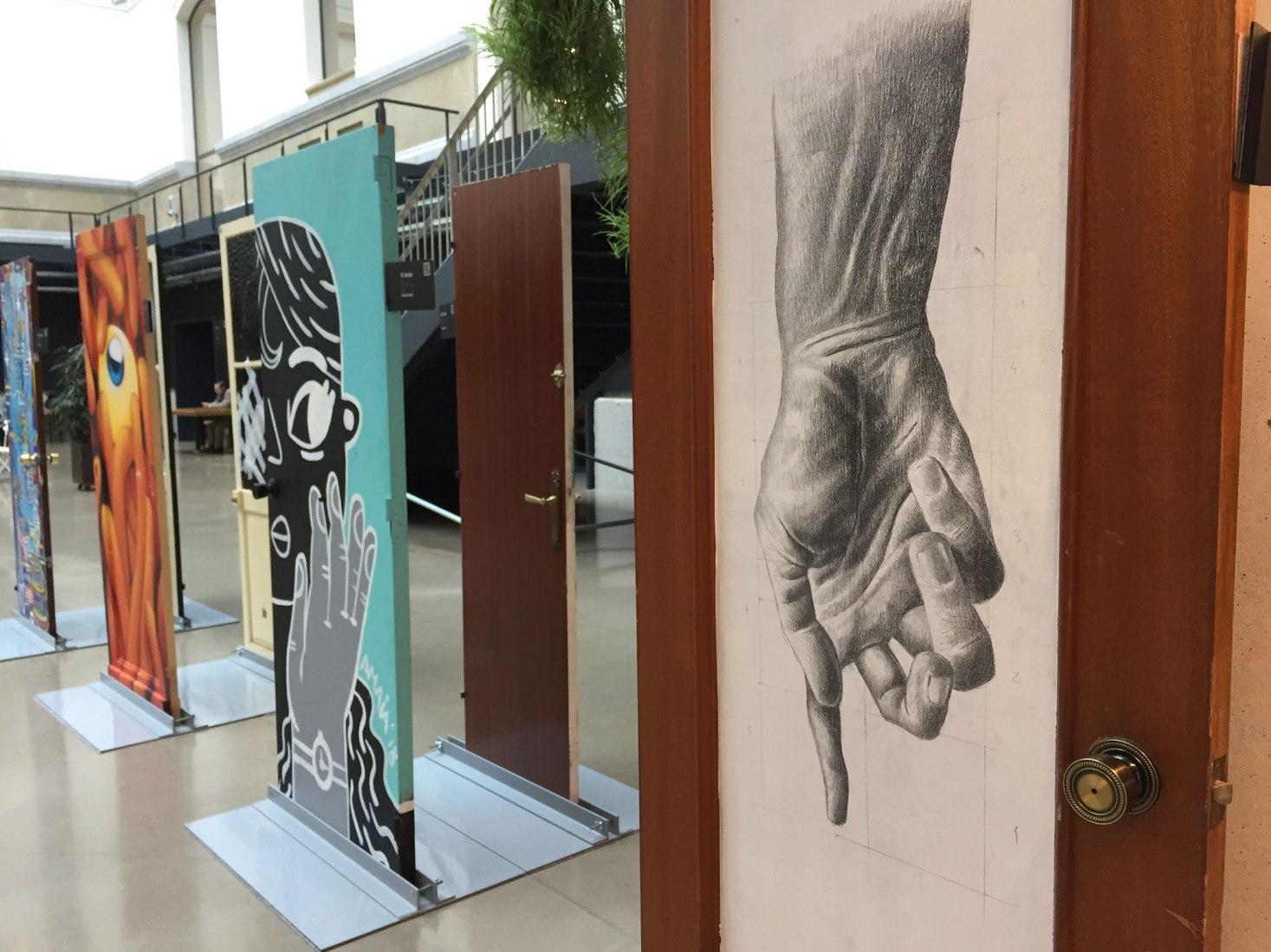 Vista de la exposición en el Centro de Cultura Contemporánea Tabakalera.