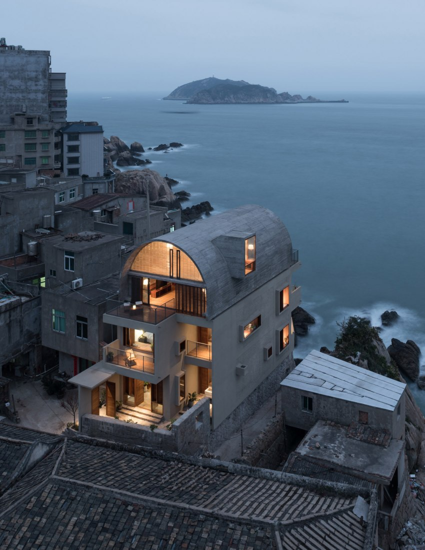 Evening view. Photograph © Chen Hao/Vector Architects