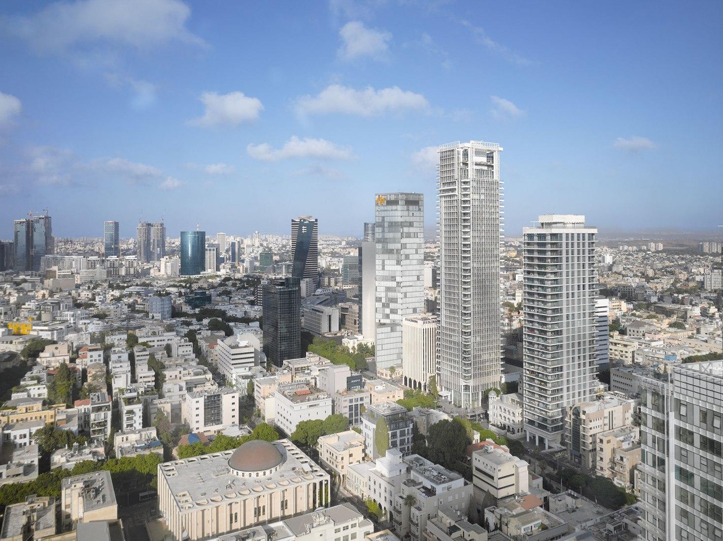 Rothschild Tower in Tel Aviv by Richard Meier & Partners. Photograph © Roland Halbe