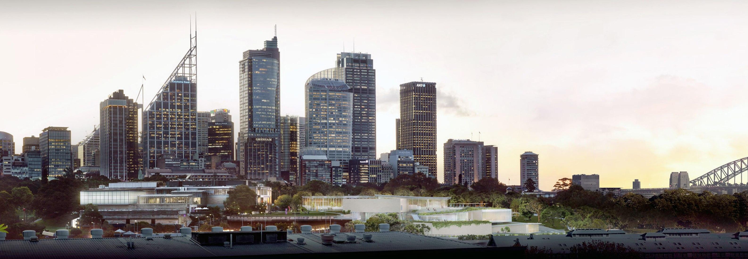 Imagen del Sydney Modern Project: vista aérea por Kazuyo Sejima + Ryue Nishizawa / SANAA