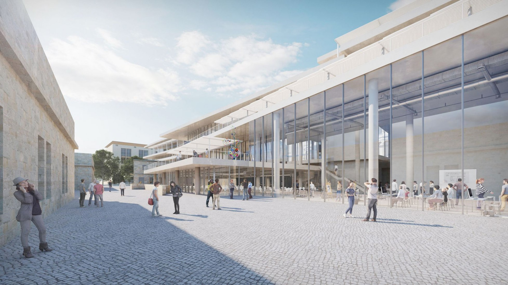 Rendering. Bezalel Academy of Art and Design. Image Courtesy of SANAA