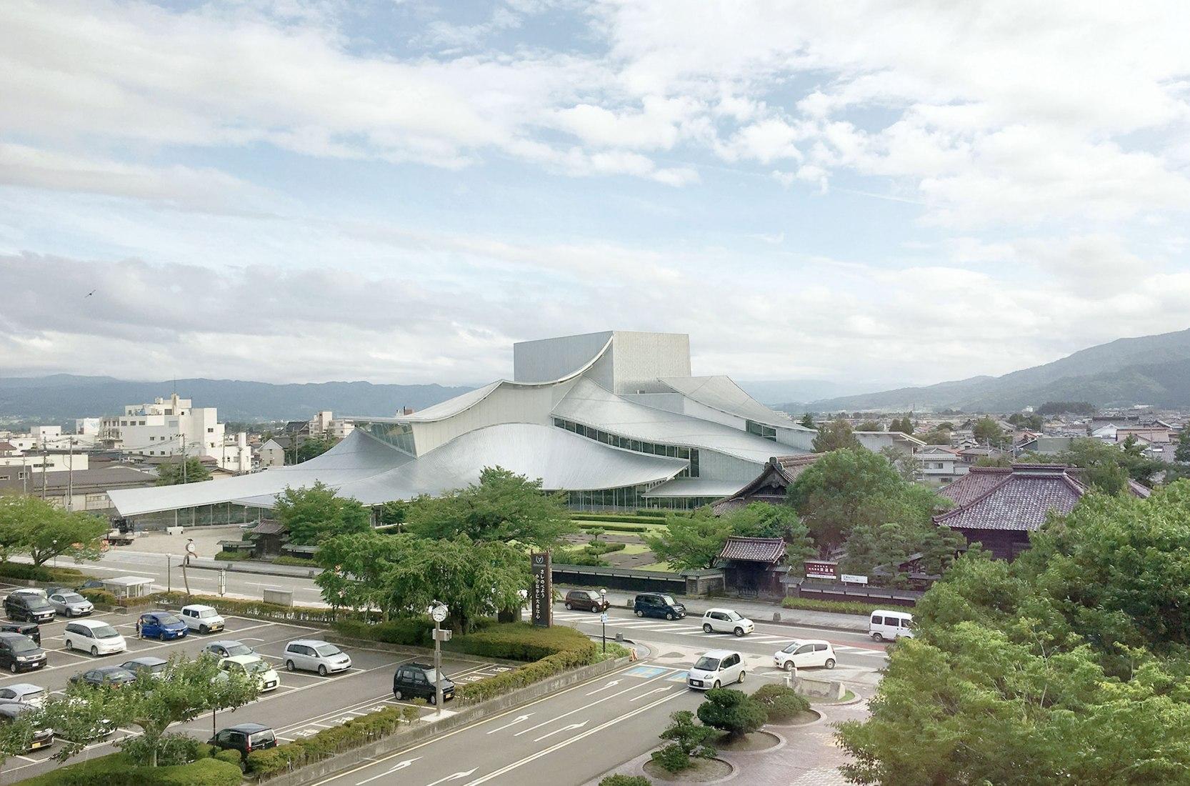 Exterior. Tsuruoka Cultural Hall by SANAA. Image courtesy of SANAA