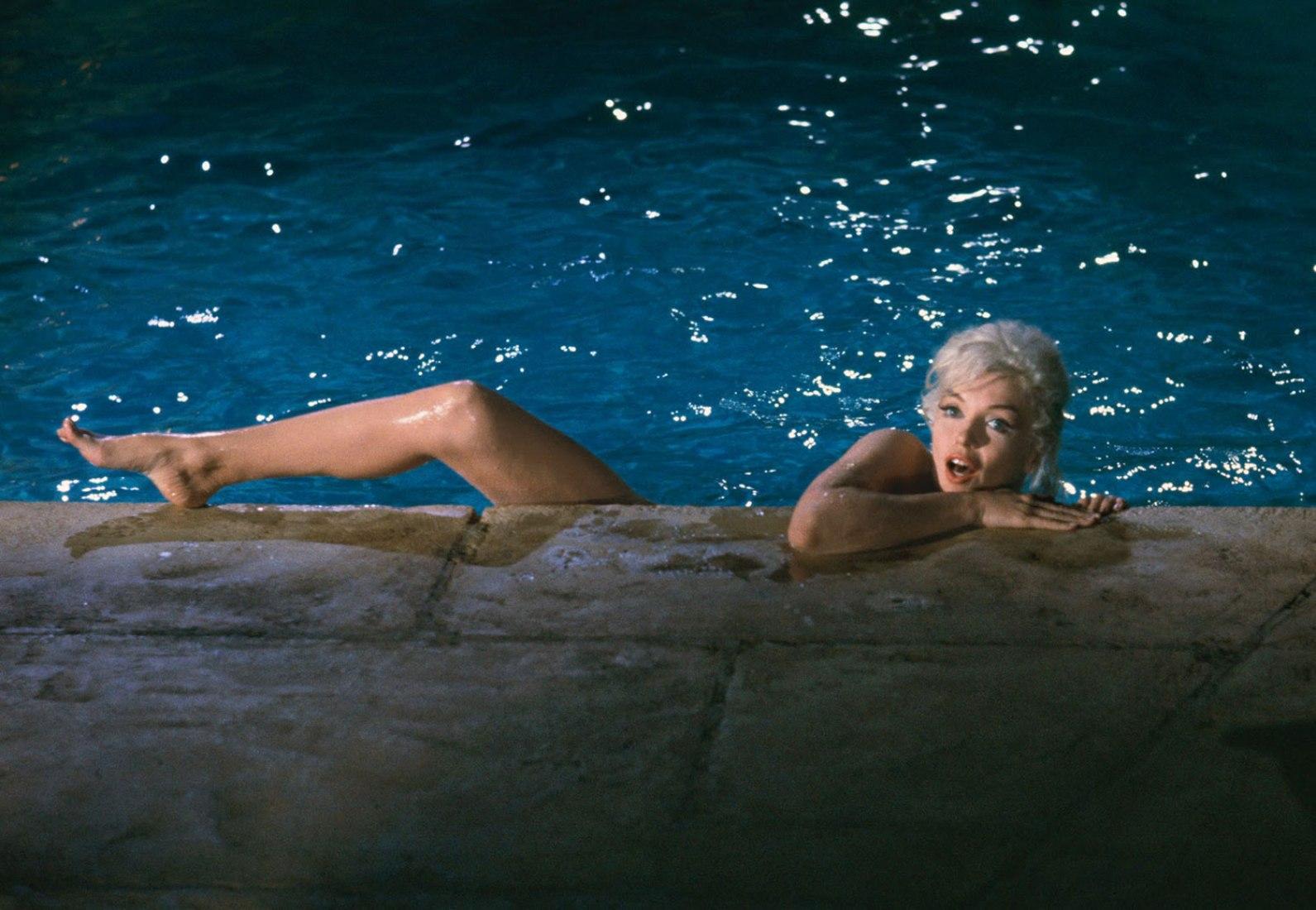 Backyard Oasis (Lawrence Schiller) Marilyn Monroe, 1962 photograph by Lawrence Schiller.