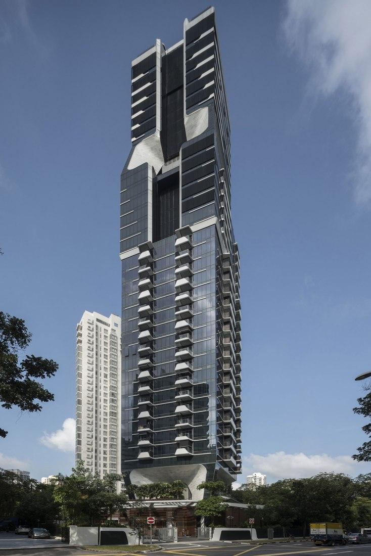 Torre Scotts por UNStudio. Fotografía por Darren Soh.