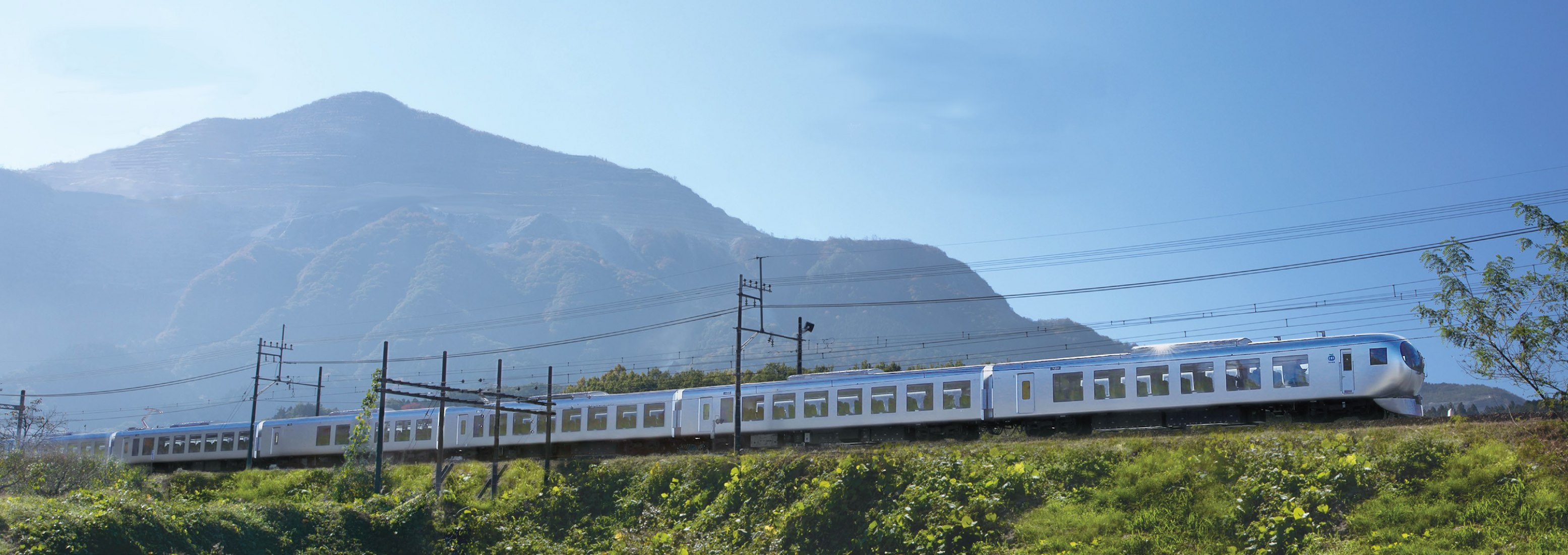 Laview train by Kazuyo Sejima. Photograph by Seibu Railway's Laview
