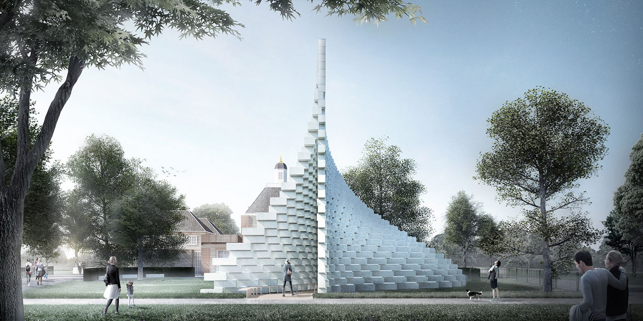 Render. Serpentine Pavilion 2016 by Bjarke Ingels Group (BIG). Image © Bjarke Ingels Group (BIG).