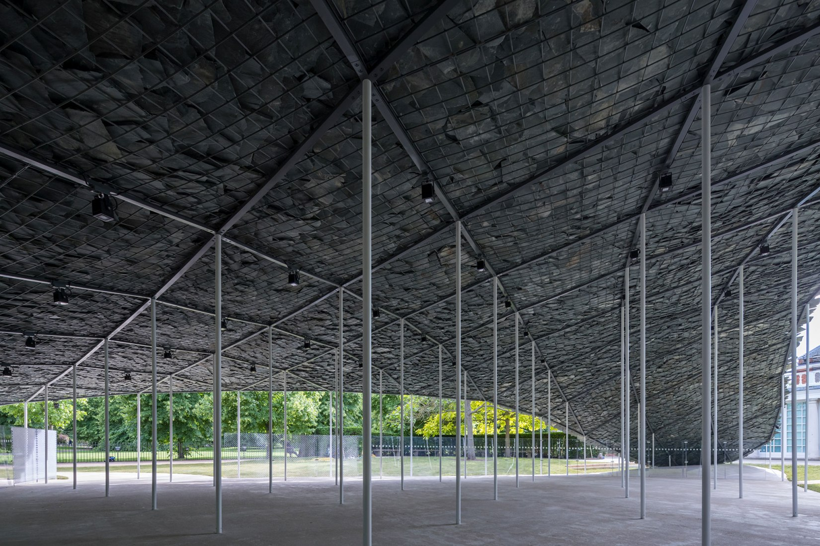 Serpentine Pavilion 2019 Designed by Junya Ishigami, Serpentine Gallery, London (21 June – 6 October 2019), © Junya Ishigami + Associates, Photography © 2019 Iwan Baan