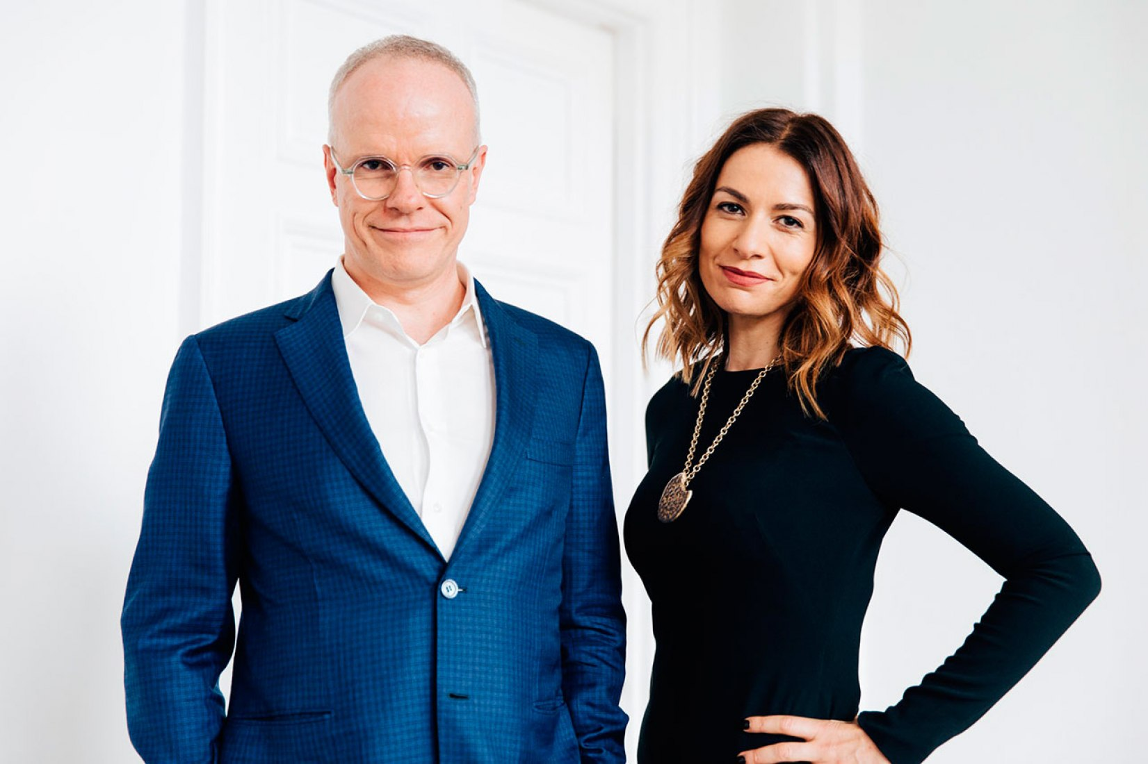Hans Ulrich Obrist and Yana Peel will work in partnership after co-director Julia Peyton-Jones steps down from her post. Photograph © Kate Berry.