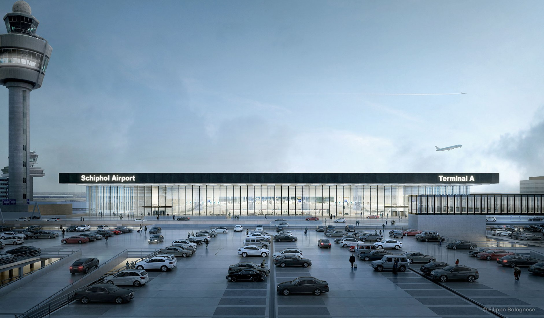 New Amsterdam Airport Schiphol Terminal by KL AIR