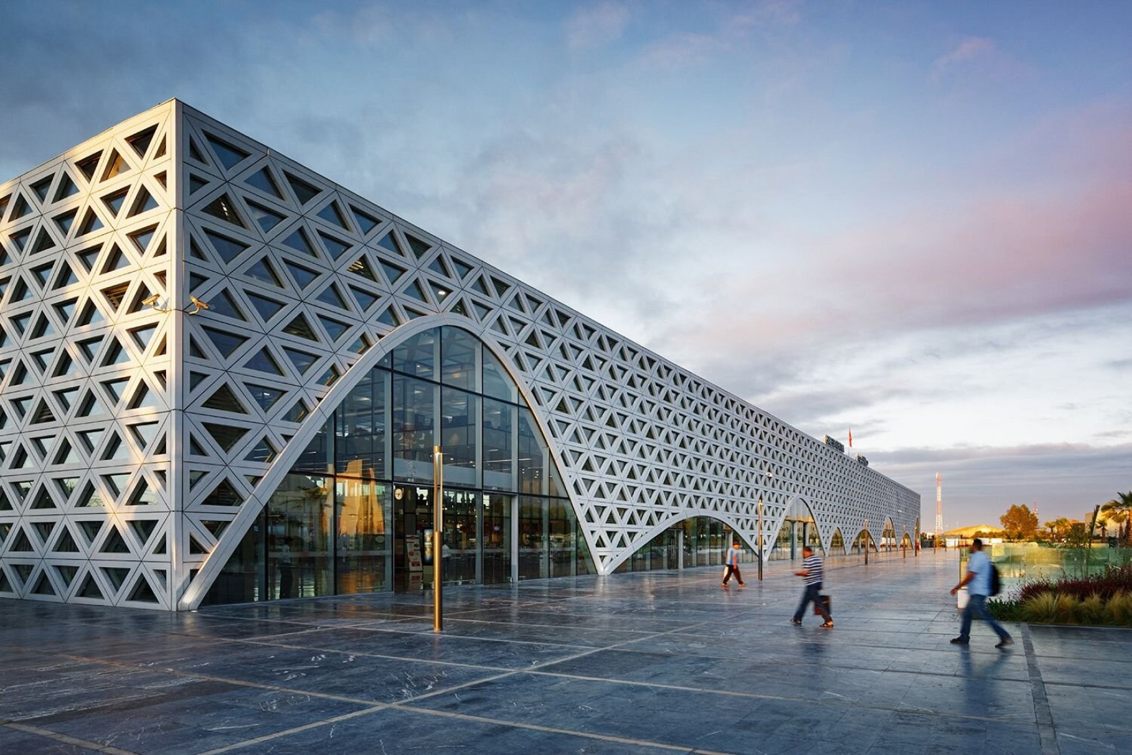 Kenitra High-speed rail station and transit hub by Silvio d'Ascia Architecture + Omar Kobbité Architectes. Photograph by Takuji Shimmura